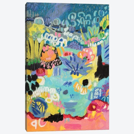 Whimsical Pond III Canvas Print #KFI27} by Karen Fields Canvas Wall Art