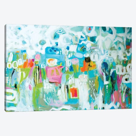 Abstract Blue Canvas Print #KFI28} by Karen Fields Canvas Print