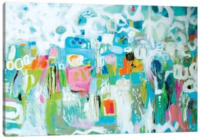 Abstract Blue Canvas Art Print