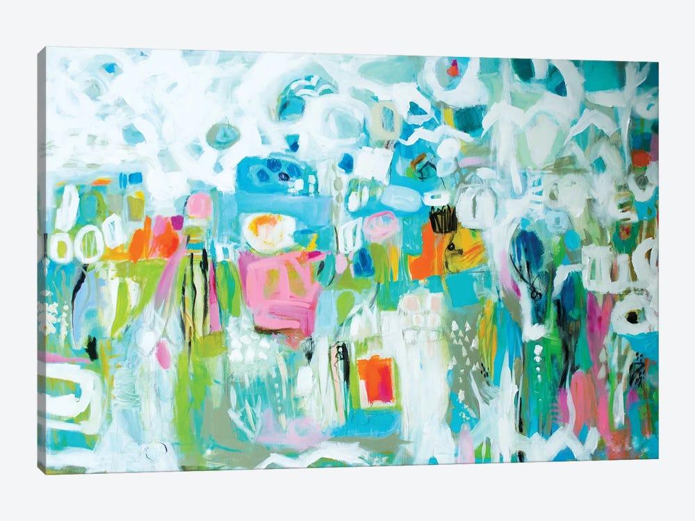 Abstract Blue by Karen Fields 1-piece Canvas Wall Art