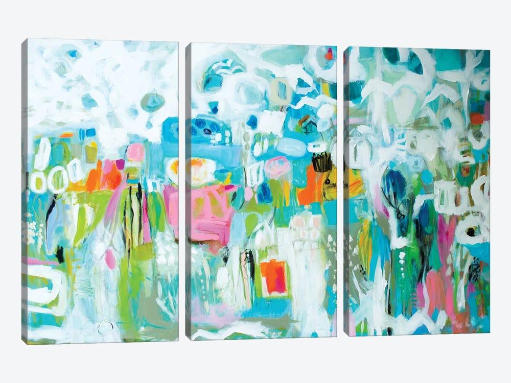 Abstract Blue by Karen Fields 3-piece Canvas Art