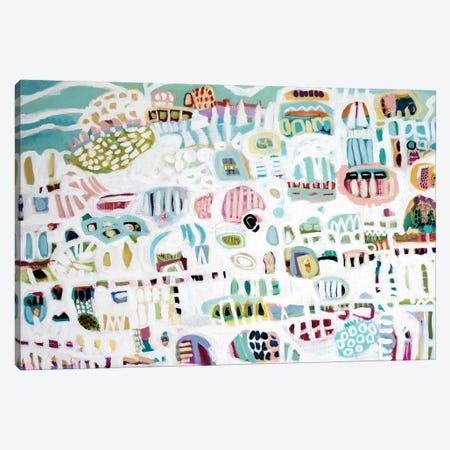 Abstract White Canvas Print #KFI31} by Karen Fields Canvas Artwork