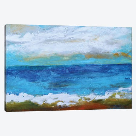 Beach & Sky II Canvas Print #KFI33} by Karen Fields Canvas Wall Art