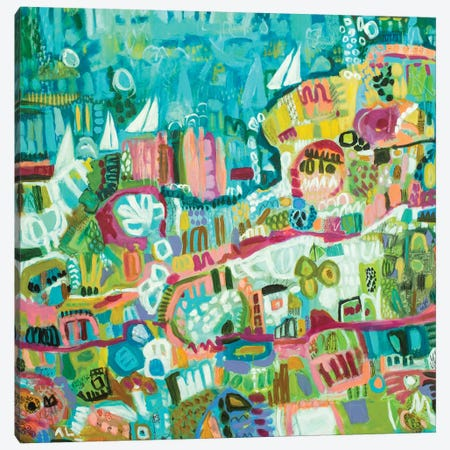 Abstract Marina III Canvas Print #KFI3} by Karen Fields Canvas Print