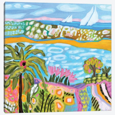 Palm Retreat Canvas Print #KFI42} by Karen Fields Canvas Print