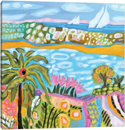 Palm Retreat Canvas Art Print