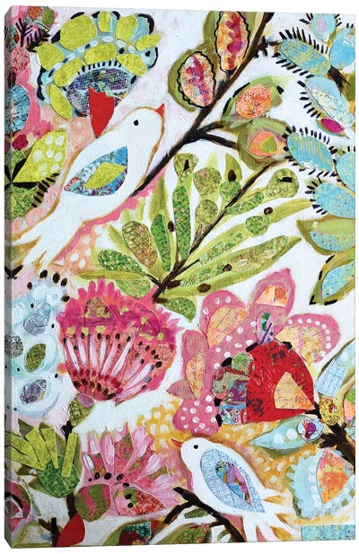 Paper Birds I Canvas Art Print
