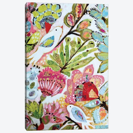 Paper Birds I Canvas Print #KFI43} by Karen Fields Canvas Print