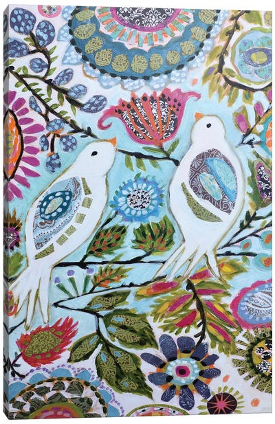 Paper Birds II Canvas Art Print