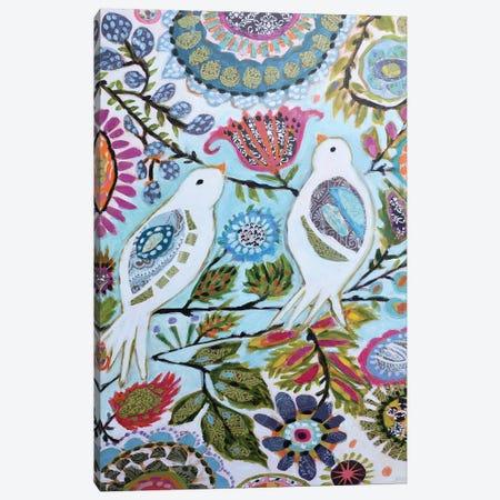 Paper Birds II Canvas Print #KFI44} by Karen Fields Canvas Wall Art