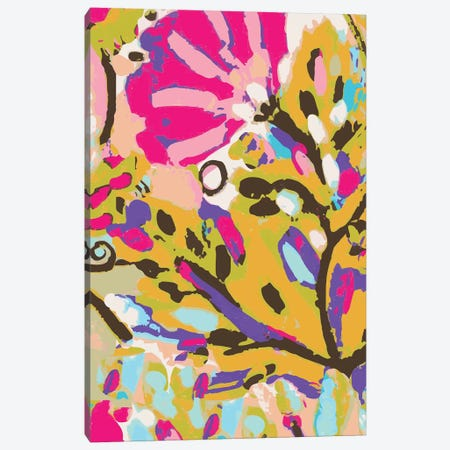 Pink Boho Floral I Canvas Print #KFI45} by Karen Fields Canvas Wall Art