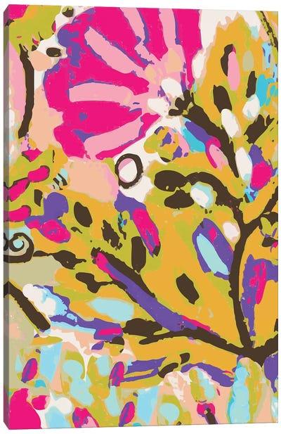 Pink Boho Floral I Canvas Art Print