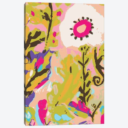 Pink Boho Floral II Canvas Print #KFI46} by Karen Fields Canvas Artwork
