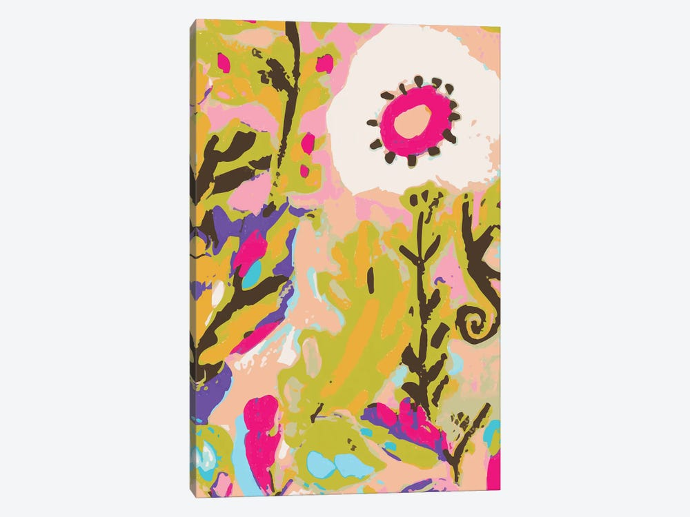 Pink Boho Floral II by Karen Fields 1-piece Canvas Art