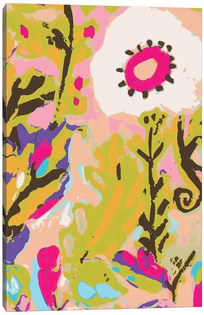 Pink Boho Floral II Canvas Art Print