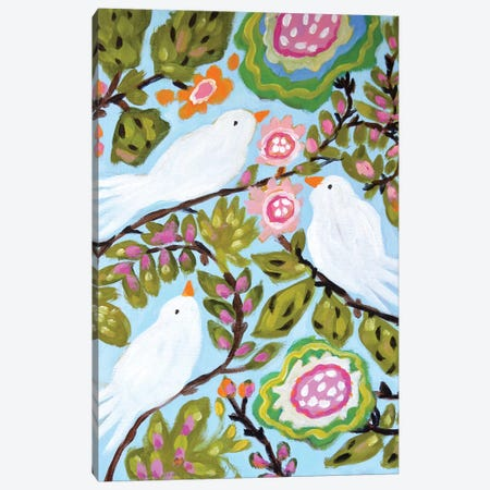 Sweet Love Birds I Canvas Print #KFI49} by Karen Fields Art Print