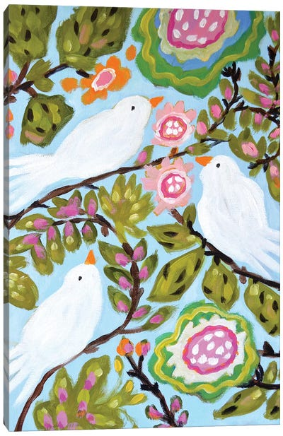 Sweet Love Birds I Canvas Art Print