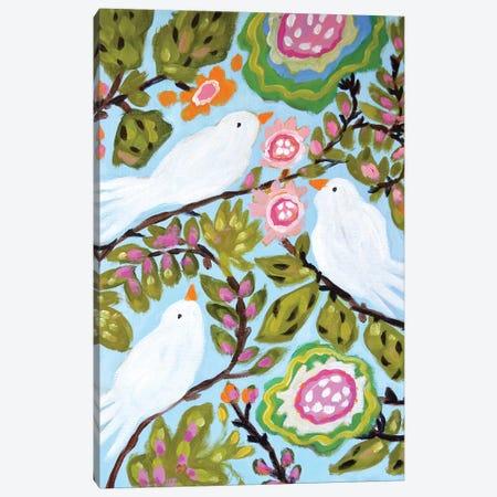 Sweet Love Birds I Canvas Print #KFI49} by Karen Fields Art Print