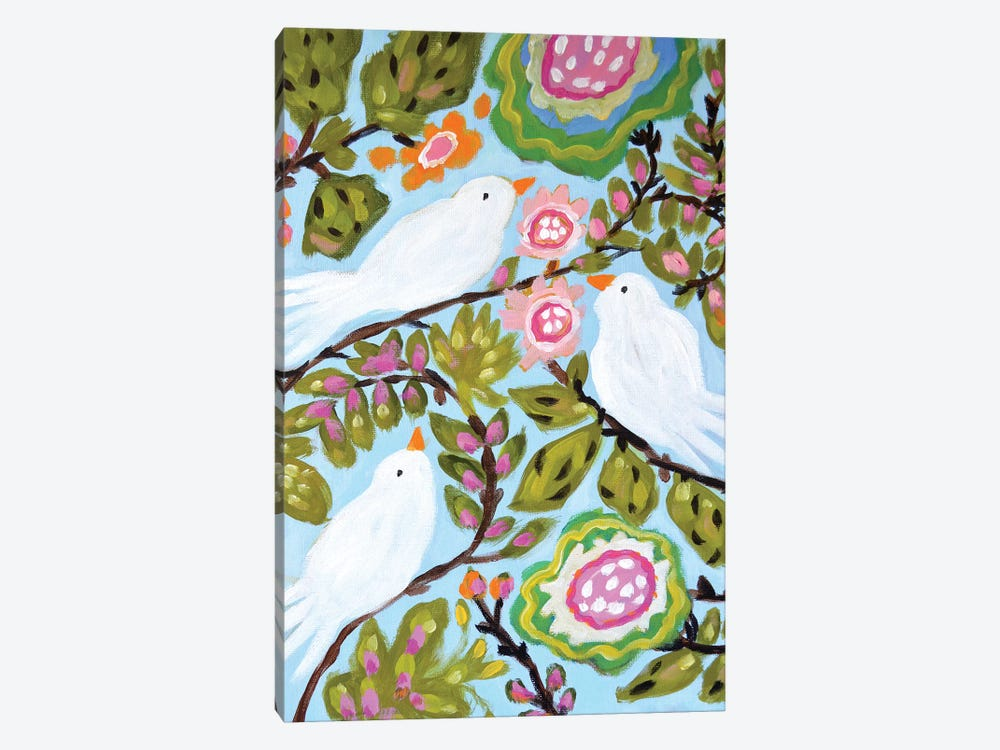 Sweet Love Birds I by Karen Fields 1-piece Canvas Print