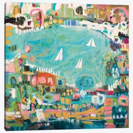Abstract Marina IV Canvas Print #KFI4} by Karen Fields Canvas Wall Art