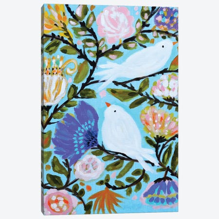 Sweet Love Birds II Canvas Print #KFI50} by Karen Fields Canvas Wall Art