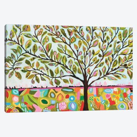 Tree Abstract Canvas Print #KFI51} by Karen Fields Canvas Wall Art