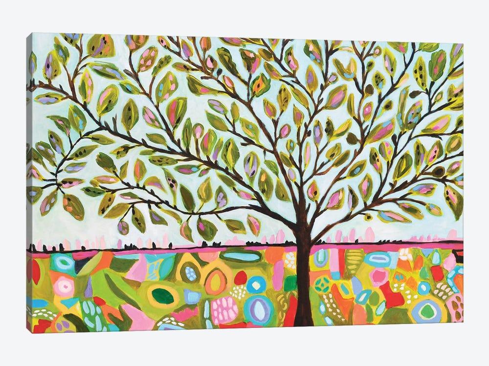Tree Abstract by Karen Fields 1-piece Canvas Artwork