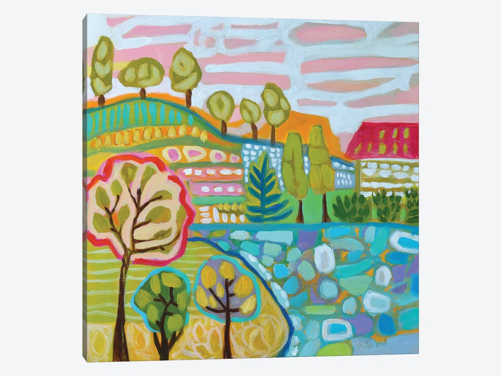 Tree Farm by Karen Fields 1-piece Art Print