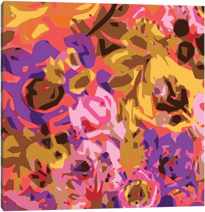Warm Abstract Floral I Canvas Art Print