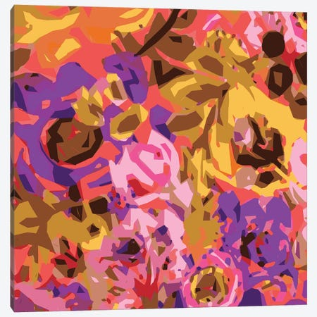 Warm Abstract Floral I Canvas Print #KFI53} by Karen Fields Canvas Wall Art