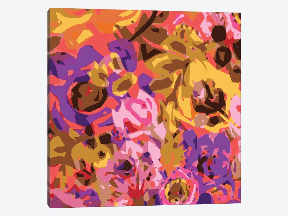 Warm Abstract Floral I by Karen Fields 1-piece Canvas Art