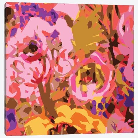 Warm Abstract Floral II Canvas Print #KFI54} by Karen Fields Art Print