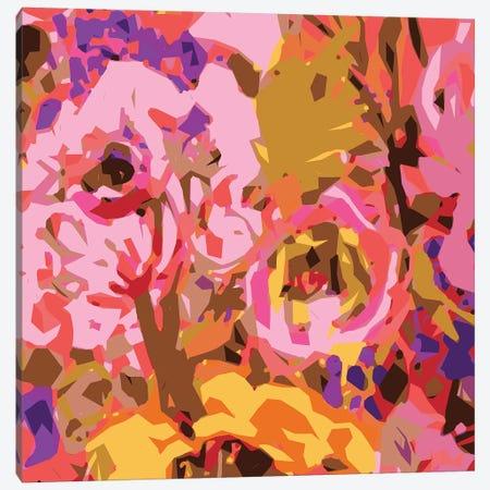 Warm Abstract Floral II Canvas Print #KFI54} by Karen Fields Art Print