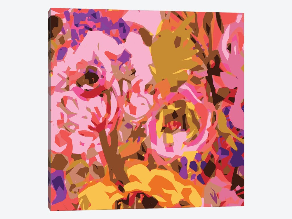 Warm Abstract Floral II by Karen Fields 1-piece Canvas Print
