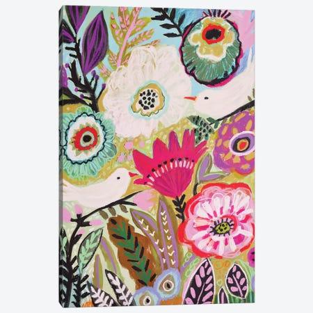 Garden Birds I 3-Piece Canvas #KFI57} by Karen Fields Canvas Art Print
