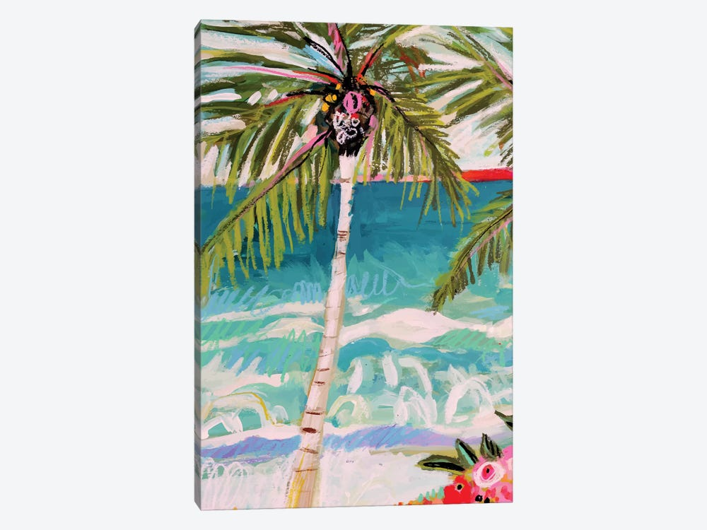 Palm Tree Whimsy I by Karen Fields 1-piece Canvas Art