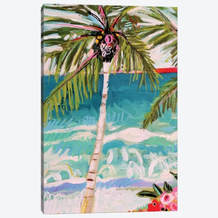 Palm Tree Whimsy I 3-Piece Canvas #KFI59} by Karen Fields Canvas Artwork