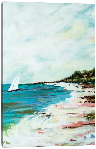 Beach Surf I Canvas Print #KFI5