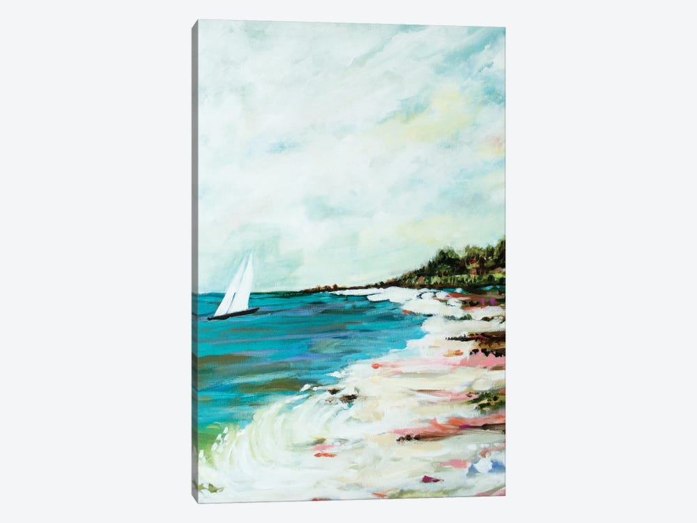 Beach Surf I by Karen Fields 1-piece Canvas Wall Art