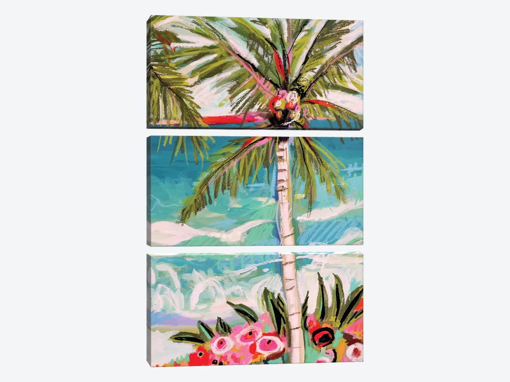 Palm Tree Whimsy II 3-piece Canvas Art