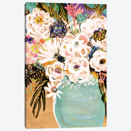 Summer Flowers In A Vase I Canvas Print #KFI61} by Karen Fields Art Print