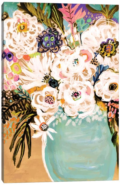 Summer Flowers In A Vase I Canvas Art Print