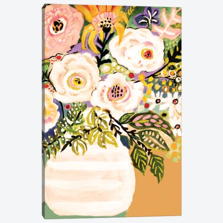 Summer Flowers In A Vase II Canvas Print #KFI62} by Karen Fields Art Print