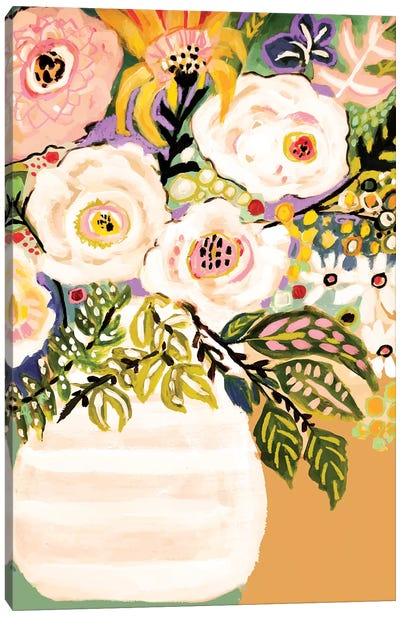 Summer Flowers In A Vase II Canvas Art Print