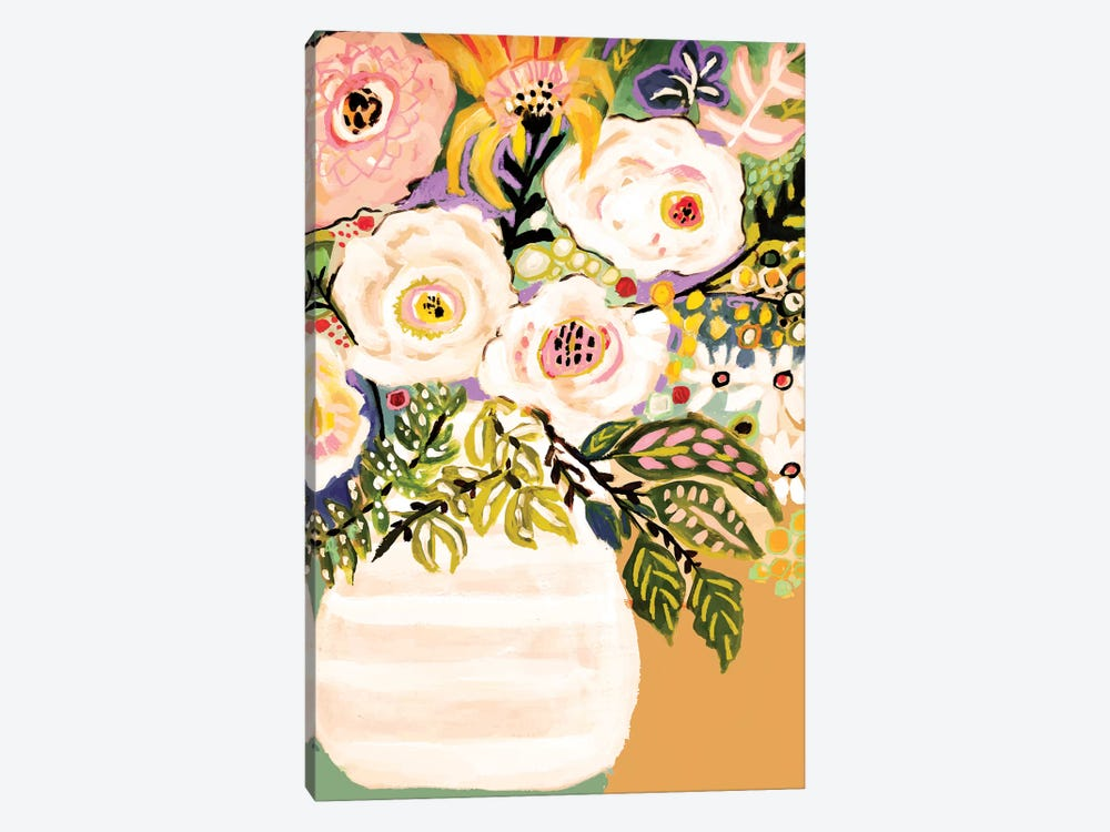 Summer Flowers In A Vase II 1-piece Canvas Art