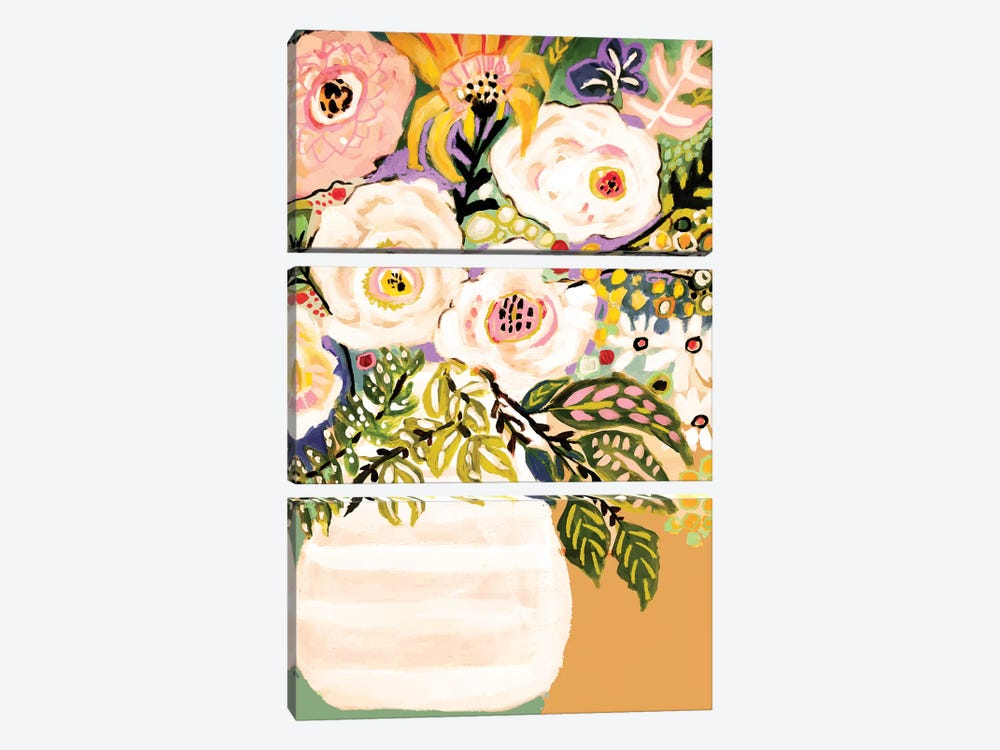 Summer Flowers In A Vase II 3-piece Canvas Art