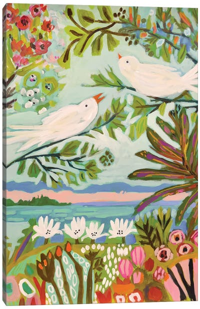 Birds In The Garden I Canvas Art Print