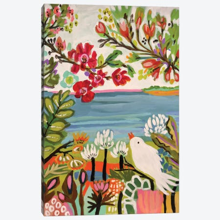Birds In The Garden II Canvas Print #KFI66} by Karen Fields Canvas Artwork