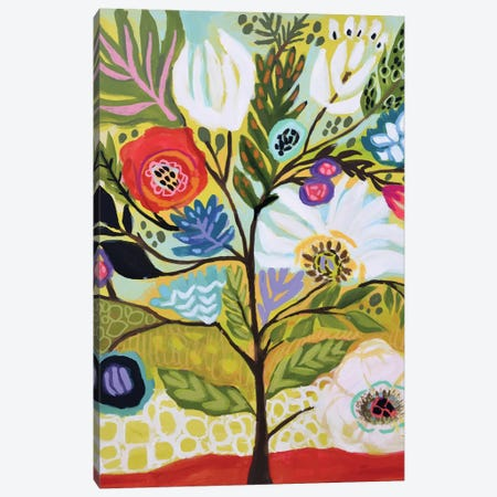 Flower Tree I Canvas Print #KFI67} by Karen Fields Canvas Wall Art