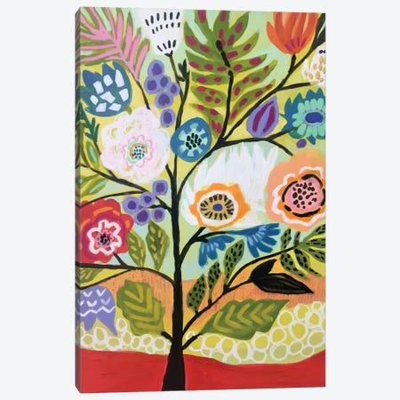 Flower Tree II 3-Piece Canvas #KFI68} by Karen Fields Canvas Print
